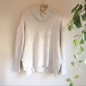 CASLON   Cozy Relaxed Turtleneck Sweater White